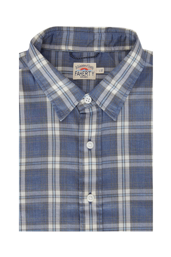 Faherty Brand The Movement™ Blue Rockport Plaid Button Down