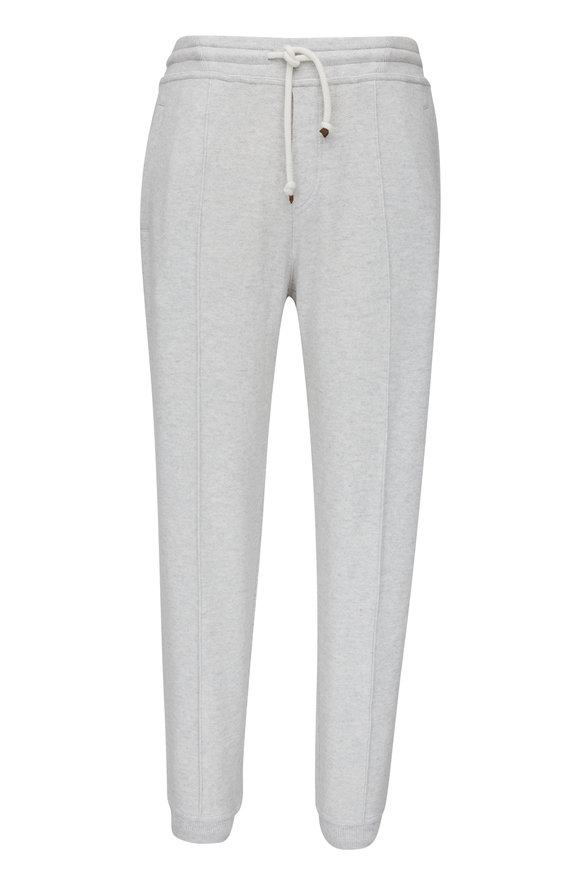 Brunello Cucinelli Pearl Gray Cashmere Lounge Pant