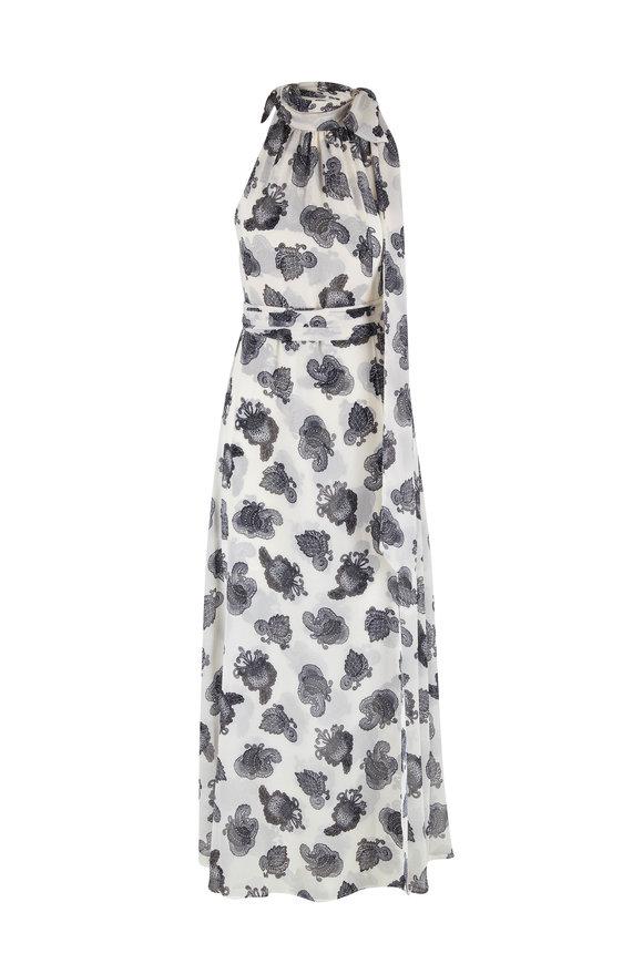 Sachin + Babi Tatum Black & White Sleeveless Gown