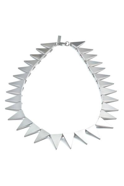 Eddie Borgo - Brass Silver Plate Flat Triangle Collar