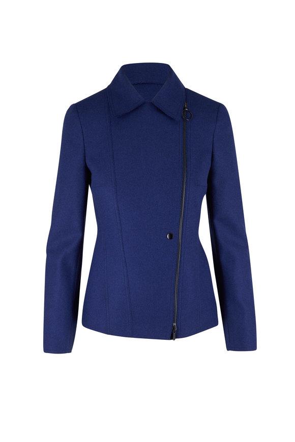 Akris Punto Navy Wool Jacket