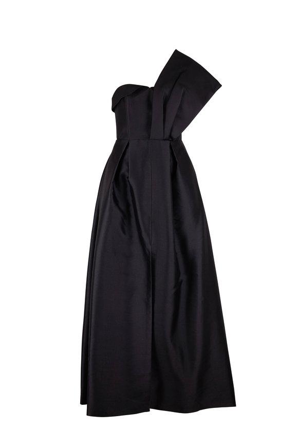Sachin + Babi Clarissa Black One Shoulder Gown