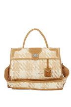 Marquise Paris - Lumière Honey Straw & Suede Shoulder Bag