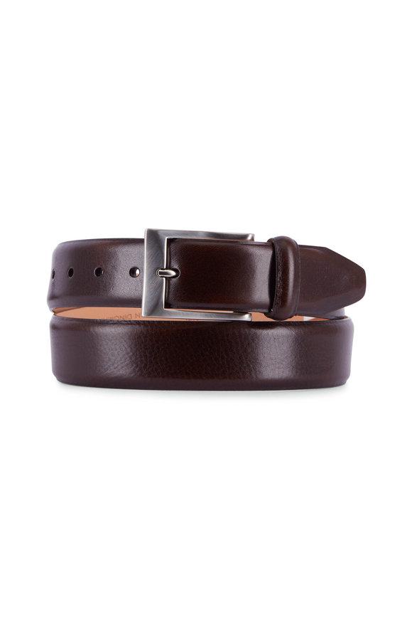Martin Dingman Luca Walnut Leather Belt