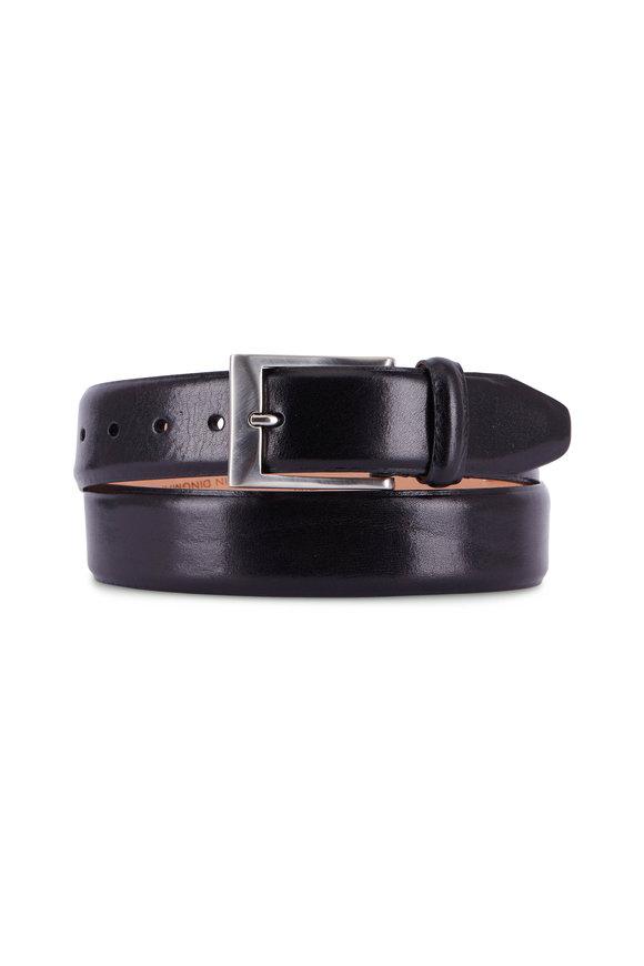 Martin Dingman Luca Black Leather Belt