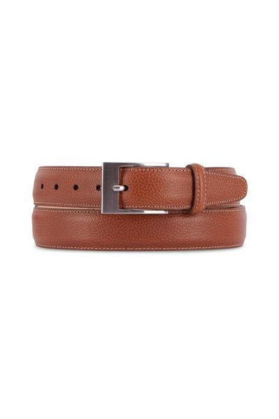 Martin Dingman - Delaney Almond Leather Interchangeable Buckle Belt