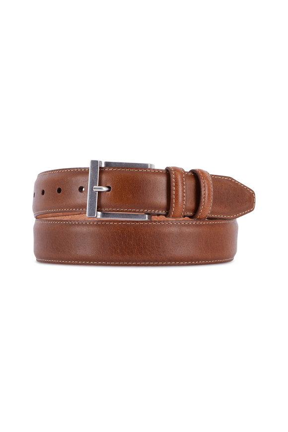 Martin Dingman Bill Walnut Leather Belt