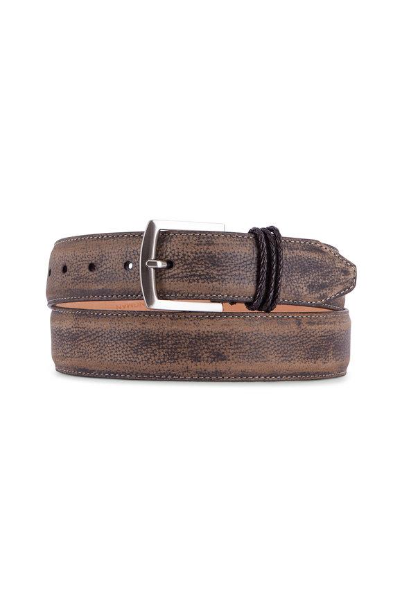 Martin Dingman Bermuda Braid Old Clay Leather Belt