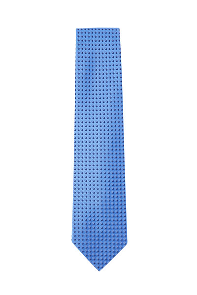 Charvet - Blue & Navy Print Silk Necktie