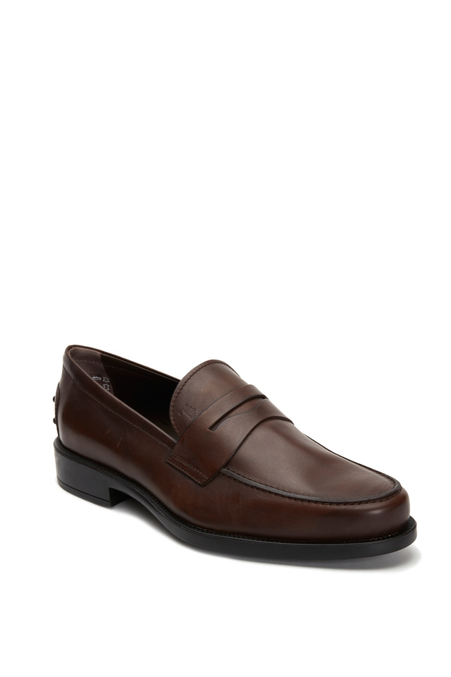 Boston Chocolate Leather Penny Loafer