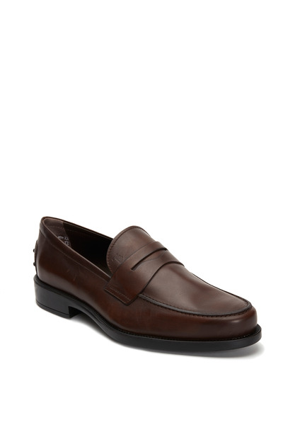 Tod's - Boston Chocolate Leather Penny Loafer