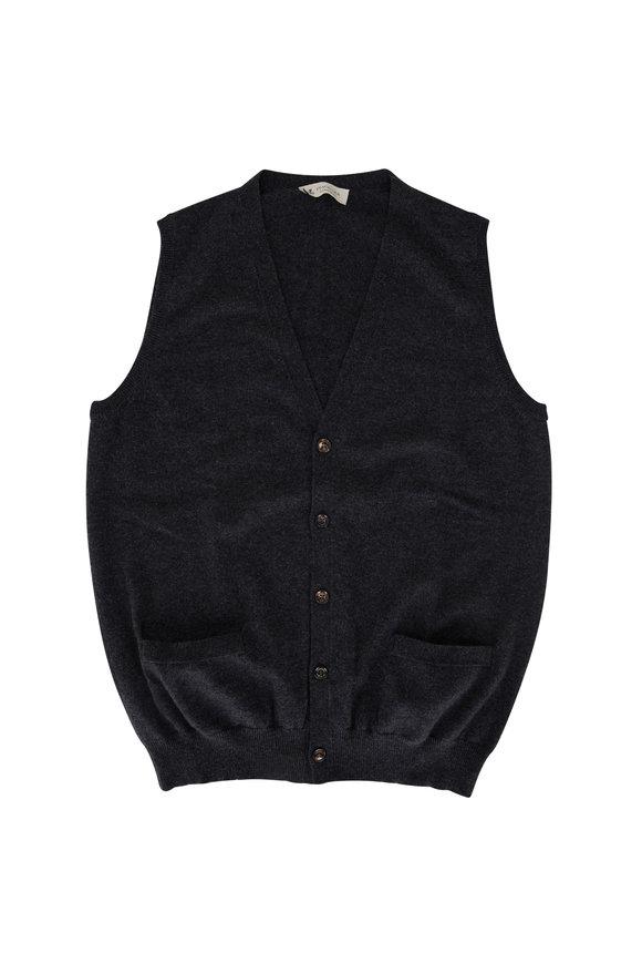 Fratelli Piacenza Charcoal Cashmere Vest