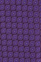 Charvet - Purple & Gray Geometric Print Silk Necktie