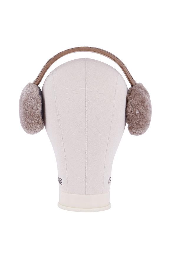 Brunello Cucinelli Brown Shearling Ear Warmers