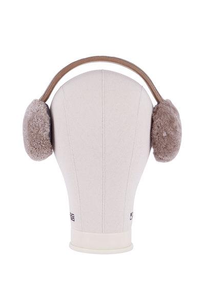Brunello Cucinelli - Brown Shearling Ear Warmers