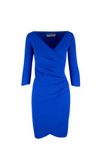 Chiara Boni La Petite Robe - Emerentienne MM Blue Three-Quarter Sleeve Dress