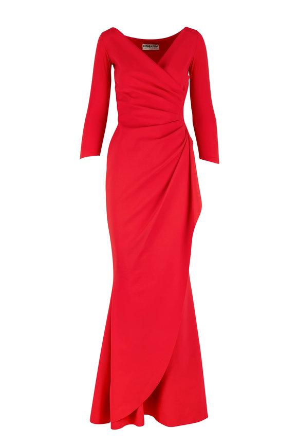 Chiara Boni La Petite Robe Charisse Passion Three-Quarter Sleeve Gown