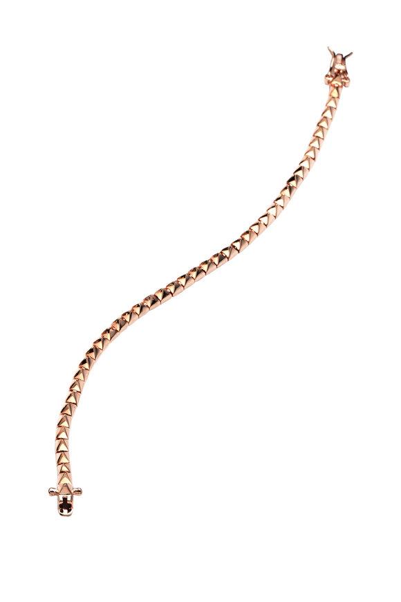 Eddie Borgo Brass Rose Gold Plate Pyramid Tennis Bracelet