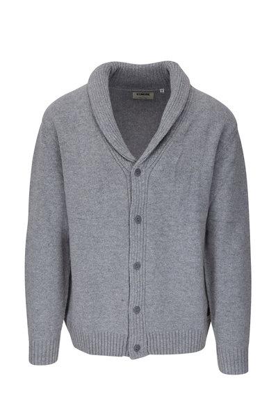 Linksoul - Heather Gray Stretch Wool Shawl Cardigan