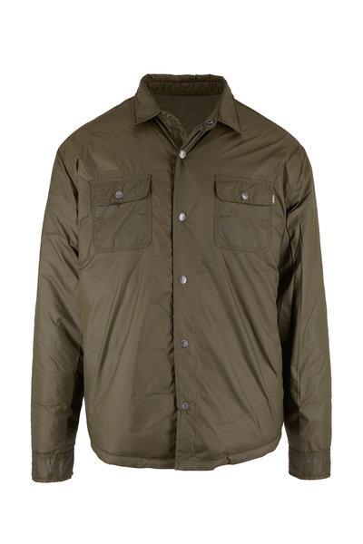 Linksoul - Nutria Army Green Down Shirt Jacket