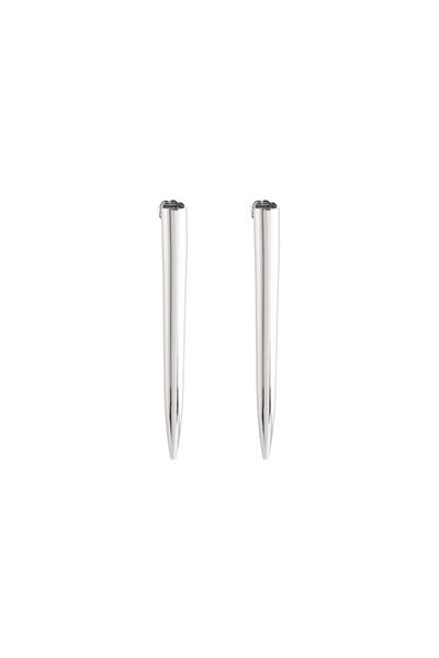 Eddie Borgo - Brass Silver Plate Long Spike Earrings