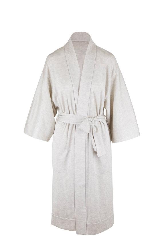Brunello Cucinelli Pearl Cotton & Silk Belted Robe