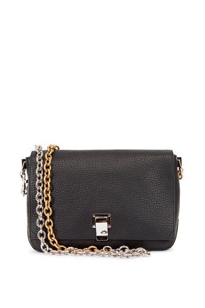 Proenza Schouler - PS Courier Black Leather Two-Tone Chain Bag