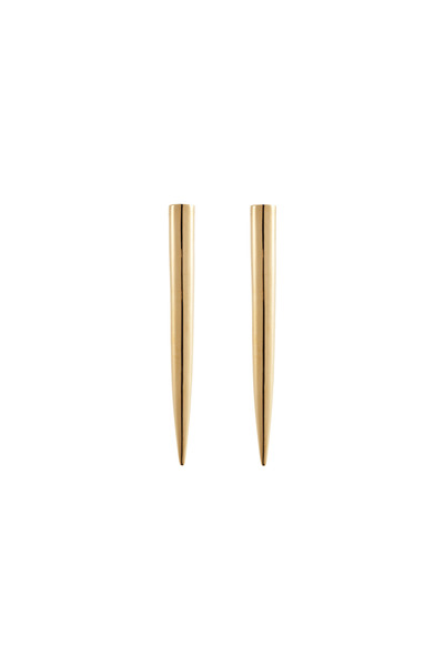 Eddie Borgo - Brass Gold Plate Long Spike Stud Earrings