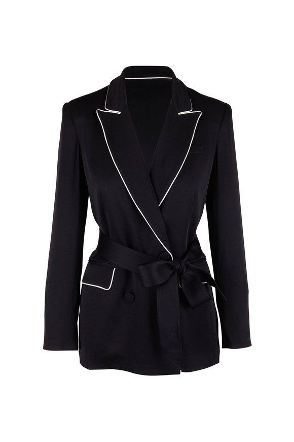 Veronica Beard Eiza Black Satin Jacket