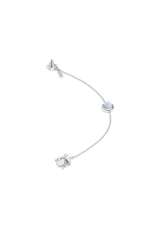 Gemstone Cone Silver Bracelet