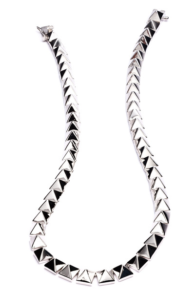 Eddie Borgo - Silver Plate Pyramid Necklace