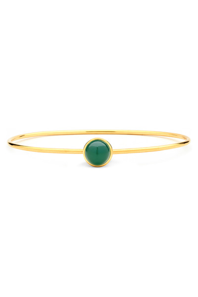 Syna - Gold Chalcedony Stacking Baubles Bracelet