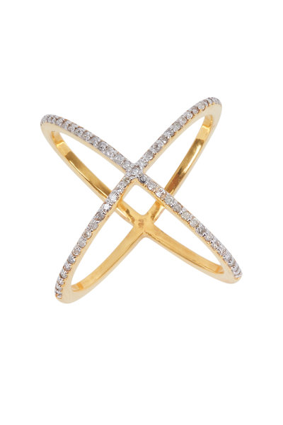 Loriann - 925709-CRISS CROSS RING