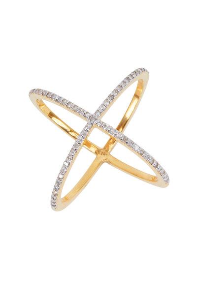 Loriann - Criss Cross Diamond Ring