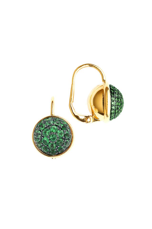 Baubles Yellow Gold Tsavorite Earrings
