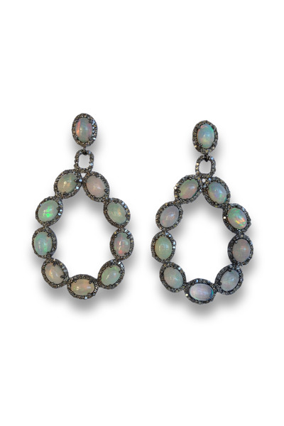 Loriann - Diamond Opal Earrings