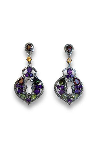 Loriann - Multi Stone Bouquet Earrings