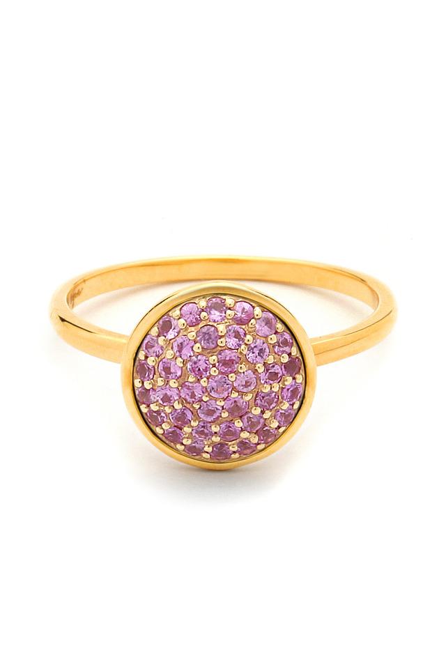 Chakra Pink Sapphire Gold Ring
