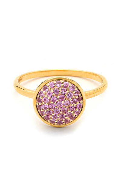 Syna - Chakra Pink Sapphire Gold Ring