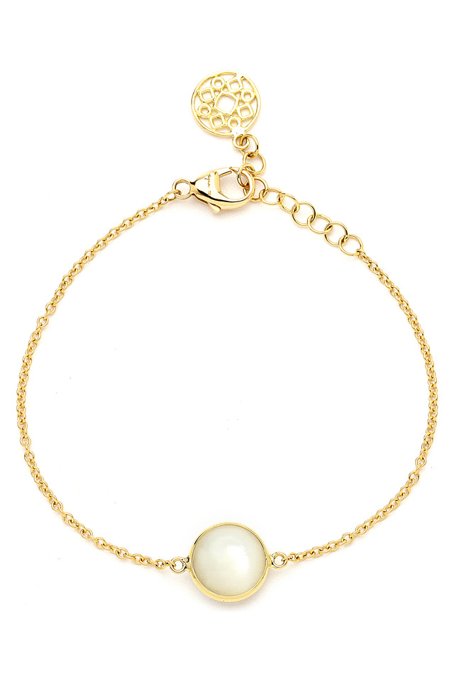 Mother Of Pearl Gold Bracelet