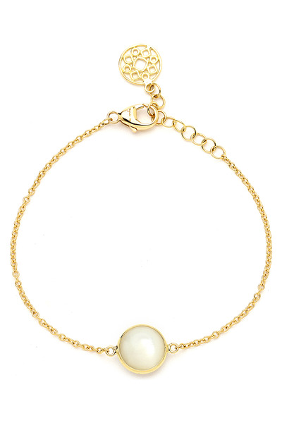 Syna - Mother Of Pearl Gold Bracelet