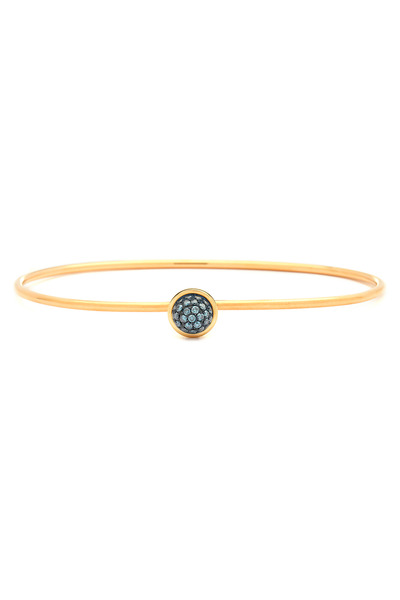 Syna - Gold Blue Diamond Stacking Bauble Bracelet