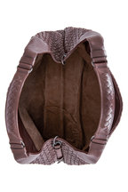 Bottega Veneta - Campana Brown Intrecciato Leather Large Hobo Bag