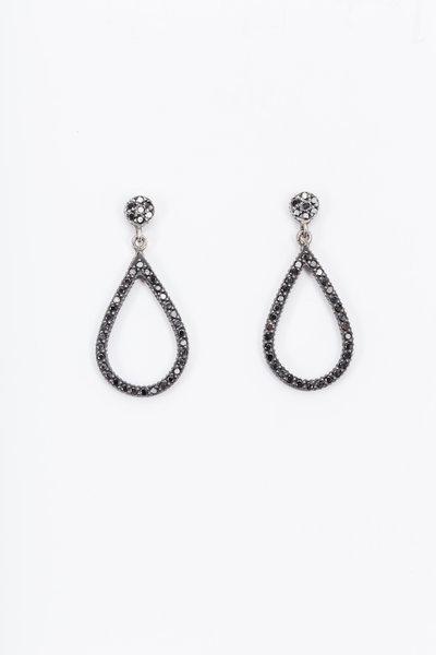 Yossi Harari - Black Diamond Teardrop Dangle Earrings