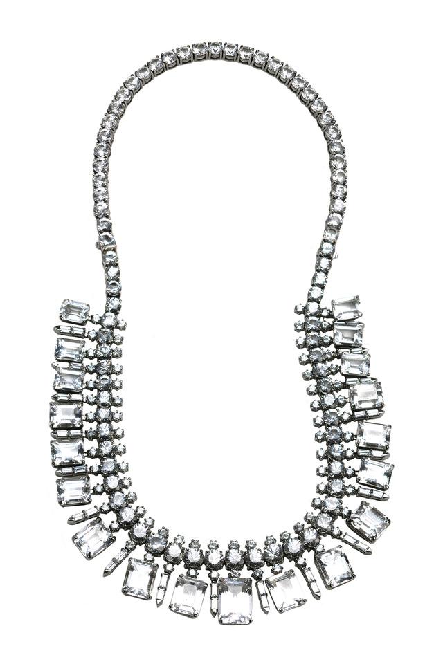 White Gold Aqua Sapphire Necklace