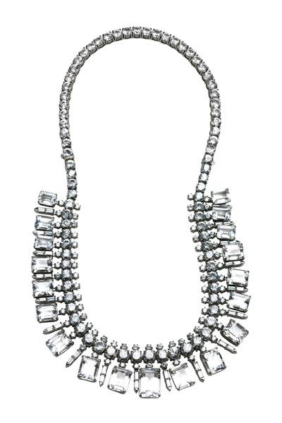 Nam Cho - White Gold Aqua Sapphire Necklace