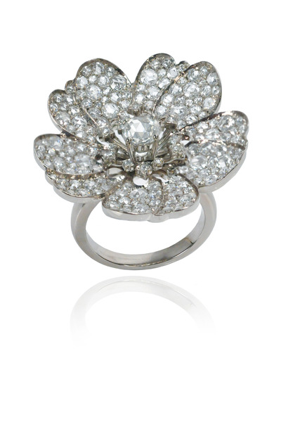 Nam Cho - White Gold Diamond Flower Ring