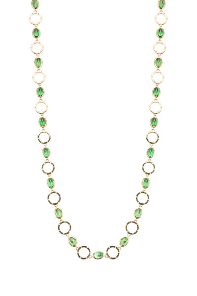 Temple St. Clair - Yellow Gold Celestial Tsavorite Necklace