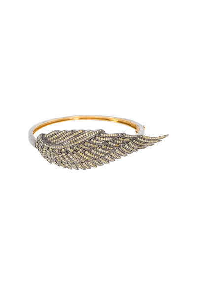 Loren Jewels - Gold & Silver Colored Diamond Wing Bracelet