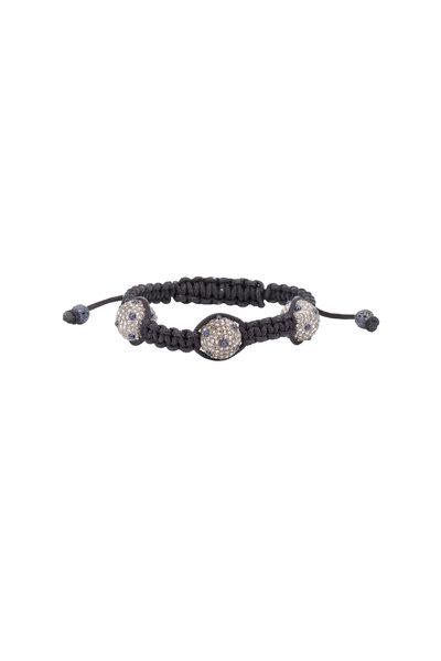 Loren Jewels - Silver & Macrame Sapphire Diamond Bracelet